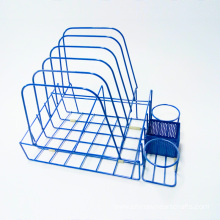 Metal Paint Bucket Blue Display Rack