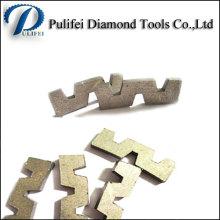 Segment de diamant d'outils de coupe abrasifs de forme de W pour la dalle de granit