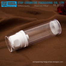 ZB-B120 120ml big lotion pump good quality single layer high clear 120ml airless bottle