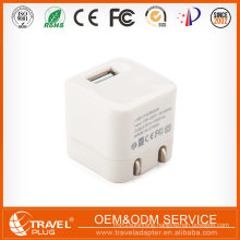 Fashion Style Super Fast Cube usb travel charger with foldable plug
