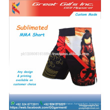 GREAT GILL's INCORPORATION High quality fabric with Pakistan Printing MMA shorts grappling
