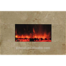 wall mounted style fireplace heater marble front frame