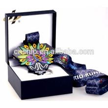 custom made metal souvenir award medal storage boxes