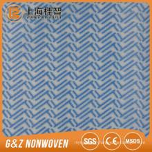 Fournissez le tissu non-tissé de Spunlace de modèle de vague imprégné pour le nettoyage