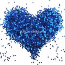 Blauer Stern-Tabellen-Konfetti-Schein-Stern-Pailletten für die Hochzeit Baby-Dusche-Geburtstags-Party-Dekorationen Versorgungsmaterialien, 6 Millimeter