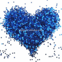 Blue Star Table Confetti Sparkle Star Lentejuelas para la boda Baby Shower Fiesta de cumpleaños Decoraciones Suministros, 6 MM