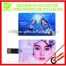 Unidad flash USB de tarjeta de crédito de venta caliente