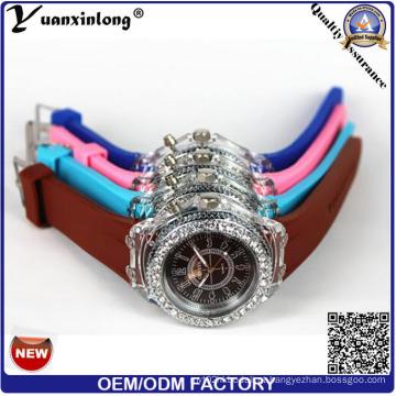 Yxl-694 Silicone Wrist Watch Fábrica Atacado Luz Silicone pulseira Pulseiras Assista