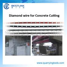 Corda de fio de diamante de corte de Bestlink para corte de concreto