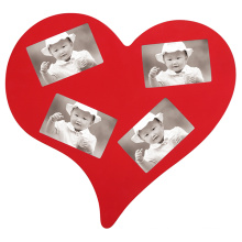 New Design Heart-Shaped Photo Frame with Multiple Openning