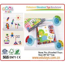 Juguetes educativos de madera de enseñanza de ayudas aclarar juguetes de ladrillo
