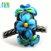 Italy murano amazing bracelets making big hole cristal glass beads