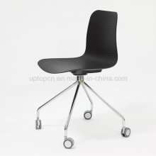 Modern Seminar Conference Plastic Training Chair with Casters (SP-UC527)