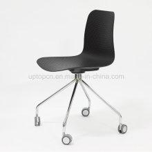 Conferência de seminário moderno cadeira de treinamento plástico com rodízios (SP-UC527)