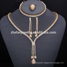 2018 Round Jewelry Set Dubai 18 Carat Gold Jewelry Sets For Ladies