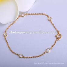 dernière plaqué or peser bracelet de chaîne de mode