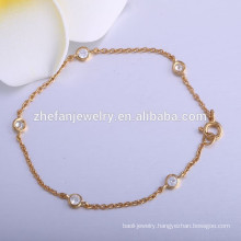 latest gold plated weigh fashion chain bracelet