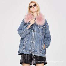 2021 Trendy Clothing Ladies Denim Parka Overcoat