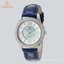 Arm Stainless Steel with Leather Band Luminous Ladies Crystal Watch71271