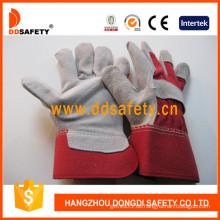 Kuh Split Leder Schweißer Sicherheits Handschuhe (DLC211)