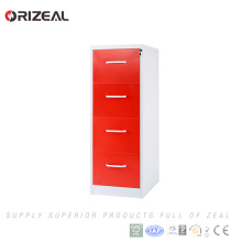 Orizeal high quality galvanized metal four drawer filing cabinet(OZ-OSC017)