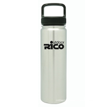 Durable Stainless Steel Vacuum Sports Bottle Silver 22oz
