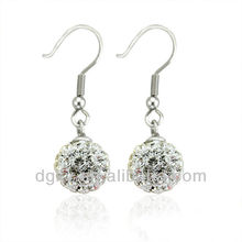 Moda brinco Stud piercing jóias Dangle cristal Ear stud