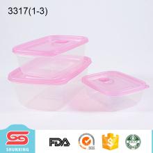 Recipientes transparentes do alimento da microonda Eco-amigável para o armazenamento do alimento