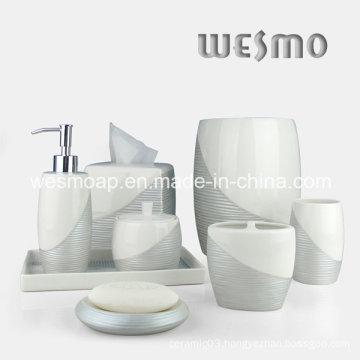 Metallic Paint Porcelain Bathroom Set (WBC0710A)