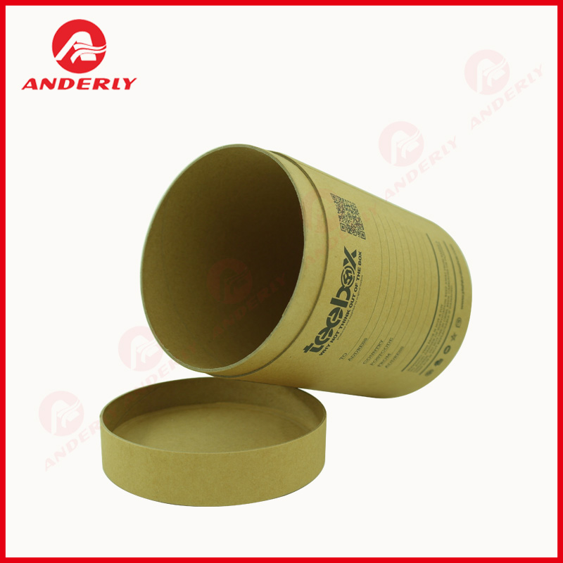 Customized T-shirt Packaging Paper Tube Cylinder Box