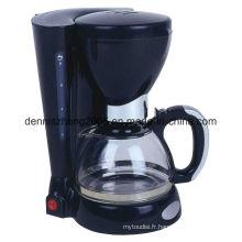 Cafetière à égouttement électrique, cafetière à interrupteur programmable de 8 tasses avec carafe en verre