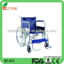 lightweight Steel Manual Wheelchair for elderly and handicapped