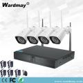 4CH 1.0MP Wireless Wifi Videoüberwachungssystem