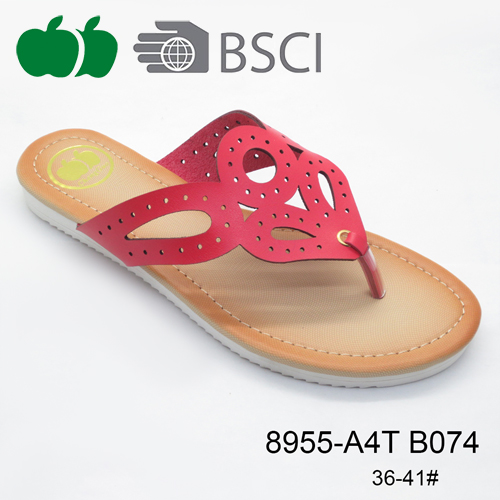 new design women pu slippers