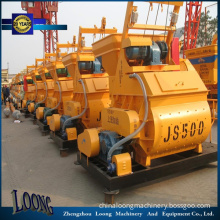 Best Price Js500 High Capacity Twin Shaft Concrete Mixer