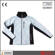 OEM-Design heißen Verkauf Outdoor wasserdichte Zip Melange Farbe gestrickte Kleidung Damen Jacke