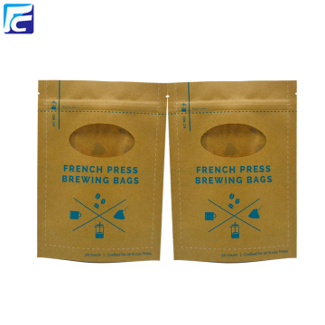 Custom Printed Chocolate Brown Packaging Bags