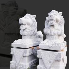 yard art neige blanc jardin granit lion statues à vendre