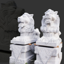 jarda arte neve branco jardim granito leão estátuas para venda