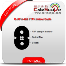 Chine Fournisseur de haute qualité Gjxfh-4b6 FTTH intérieur fibre optique câble