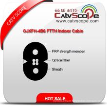 China fornecedor de alta qualidade Gjxfh-4b6 FTTH cabo de fibra óptica interior