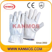 Venta al por mayor de seguridad industrial cerdo grano conductor cuero trabajo guantes (22205)
