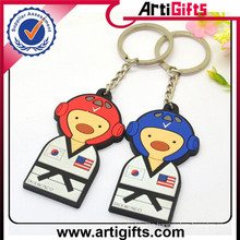 Wholesale cheap llaveros soft pvc keychain