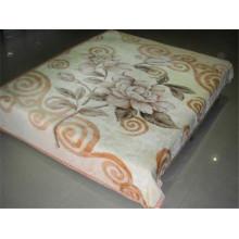 Impressão de flores de café e cobertor de poliéster barato esculpido