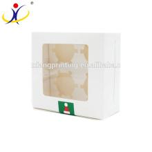 Cajas de empaquetado de la comida hecha a mano impresa color de encargo de la boda para la magdalena