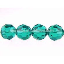 Perlas de cristal redondo plano, perlas de cristal al por mayor redondas