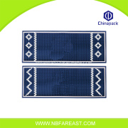 Samples available rubber bar mat custom