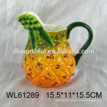 Promotinal pineapple shape ceramic water pitcher