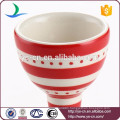 Red stripe decal wine cup pattern ceramic egg cup