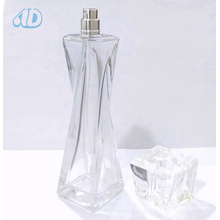 Ad-P334 Transparent Curved Glass Perfume Bottle